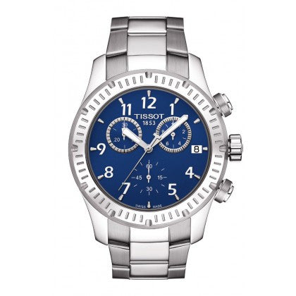Tissot V8 Men's Quartz Watch - Blue Dial With Stainless Steel PVD Bracelet - Tissot -  Watches - Ora by D'Amore Jewelers