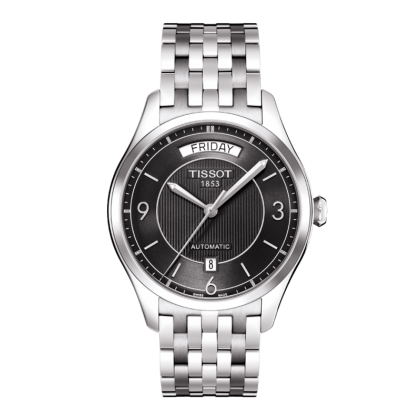 T-One Men's Black Automatic Stainless Steel Watch - Tissot -  Watches - Ora by D'Amore Jewelers