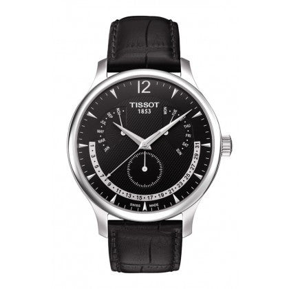 Tradition Men's Black Quartz Watch with Perpetual Calendar - Tissot -  Watches - Ora by D'Amore Jewelers