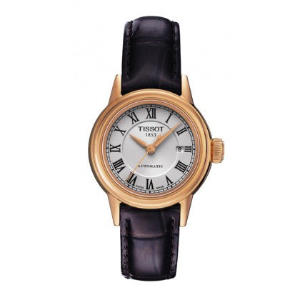 Tissot Carson Automatic White Classic Roman Numeral Watch with Brown Leather Strap - Tissot -  Watches - Ora by D'Amore Jewelers