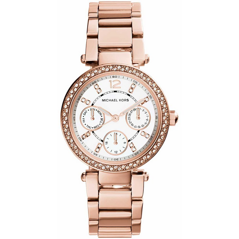 Parker Pavé Rose Gold-Tone Watch