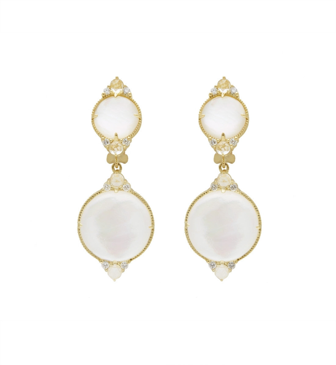 Allure Rock Crystal Quartz Double Drop Earrings - Judith Ripka -  Earring - Ora by D'Amore Jewelers - 1