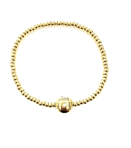 Yellow Gold Beaded Bracelet - Oromalia -  Bracelet - Ora by D'Amore Jewelers