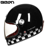 BEON fiberglass full face helmet Retro Ultralight
