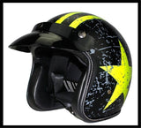 3/4 DOT red shine helmet