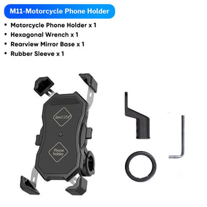 Motorcycle Cell Phone Holder Wireless Charger