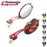 Pair Motorcycle Rear view Mirror Universal Scooter Mirror
