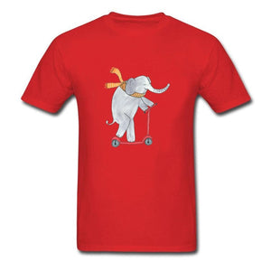 Elephant On A Scooter T-Shirt