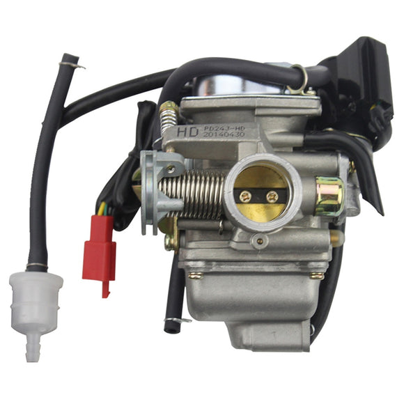 PD24J Carburetor 24mm Carb 42mm air filter Motorcycle for Engine GY6 125 CC 150CC