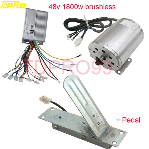 1800W 48V Brushless Electric Motor Speed Controller Throttle Foot Pedal
