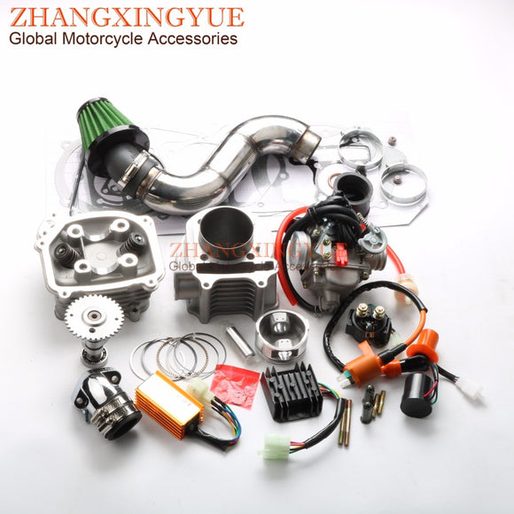 180cc EGR Big Bore Kit Performance CDI Racing Manifold Air Filter PD24J Carburetor for GY6 150cc