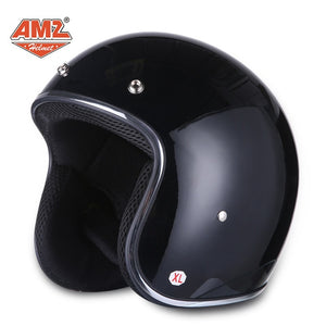 AMZ Motorcycle Retro Helmet DOT