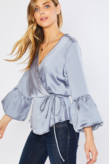 Satin Blouse Top