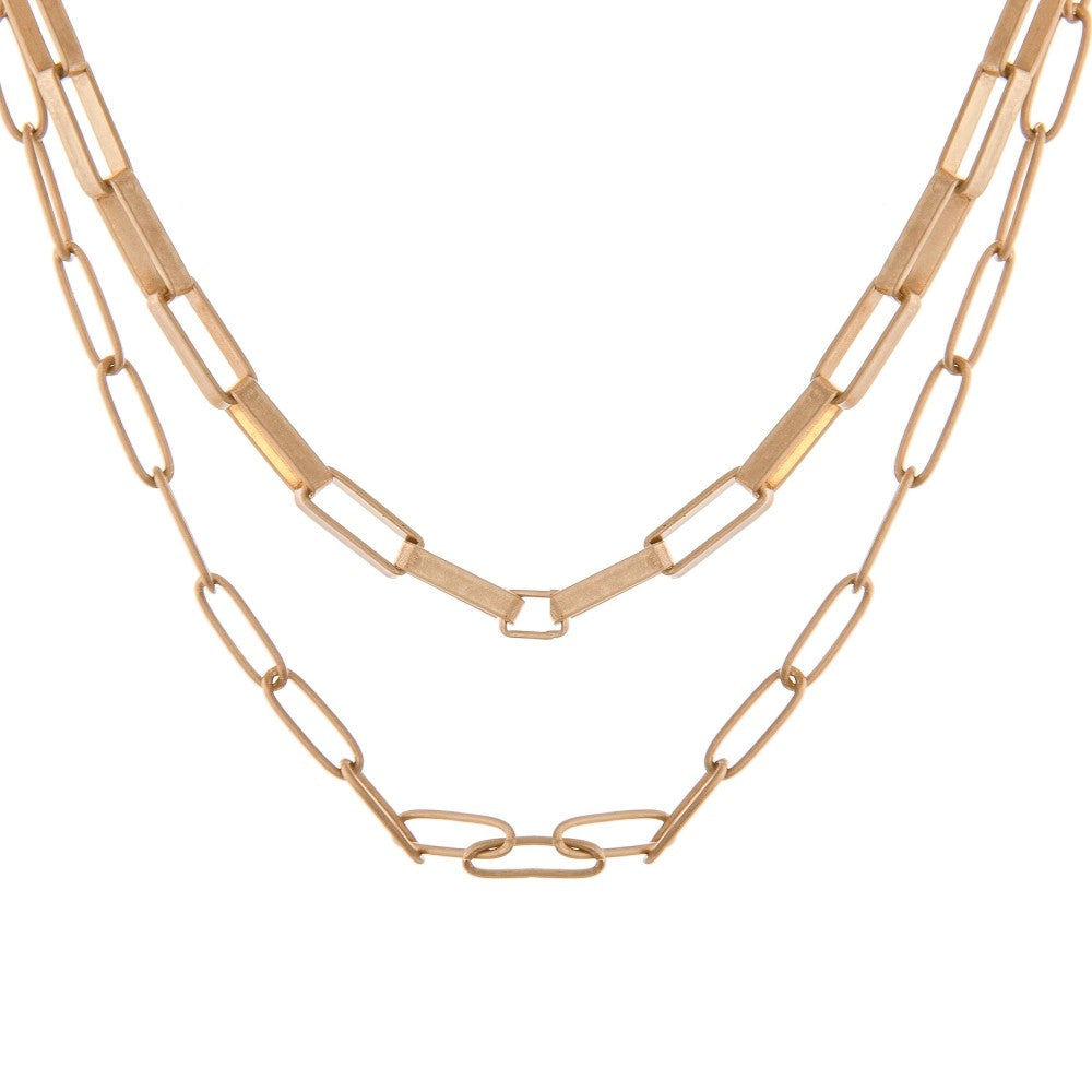 Gold Layered Cable Chain Necklace