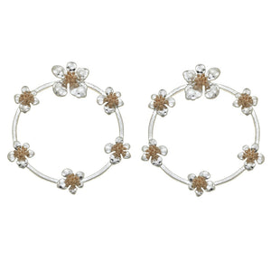 Worn Flower Hoops