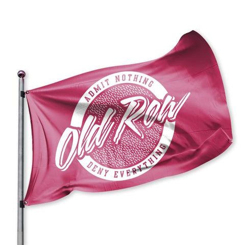 Old Row Retro Circle Flag Crimson