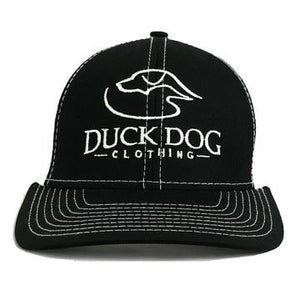 Duck Dog Black/White Logo Hat