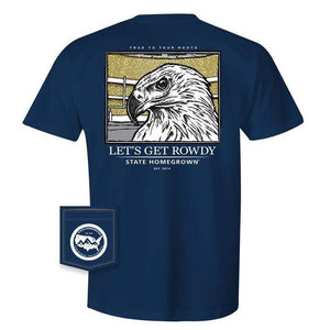 State Homegrown Let's Get Rowdy Eagle SS Tee