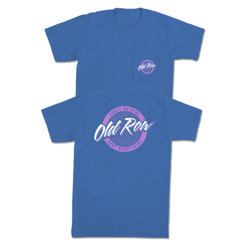 Spring Rad Chicks Pocket Tee (Flo Blue/Pink)