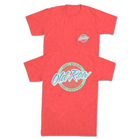 Rad Chicks SS Pocket Tee, Neon Red Orange