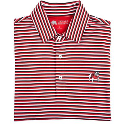 Triple Stripe Standing Bulldog Polo