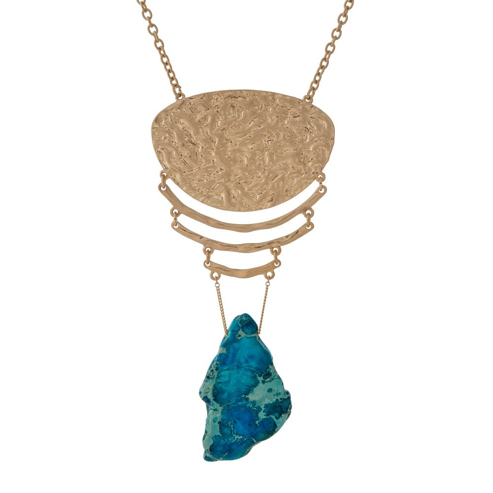 Gold Stone Necklaces
