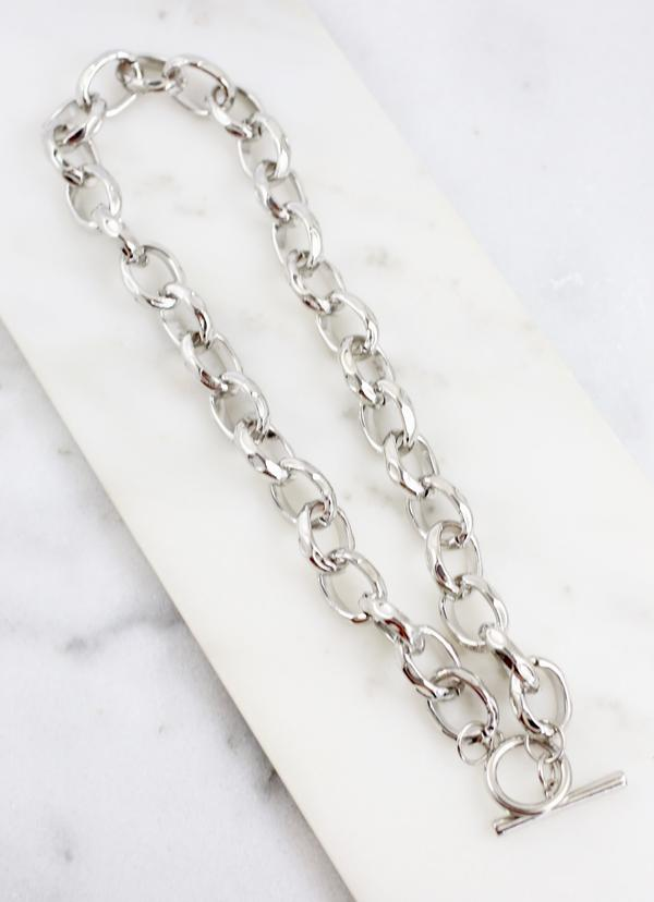 Booth Hammered Link Necklace