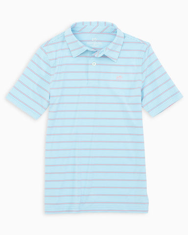Kid's Southern Tide Driver Stripe Performance Polo