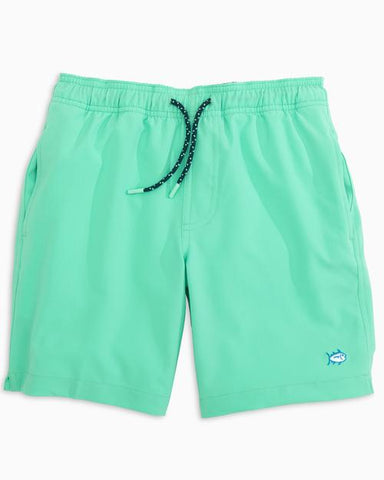 Boy's Southern Tide Solid Swim Shorts