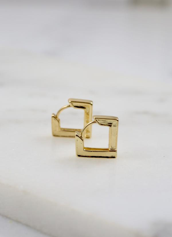 Fraley Square Huggie Earring Gold
