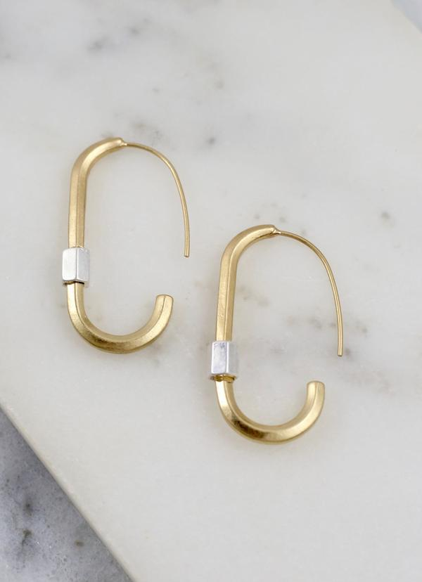 Decatur Oval Threader Earring