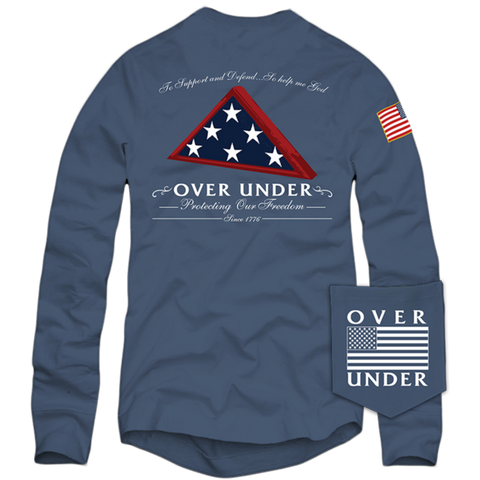 L/S Folds of Honor T-Shirt Navy
