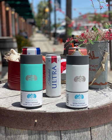 Toad Fish Non-Tipping Slim Can Koozie