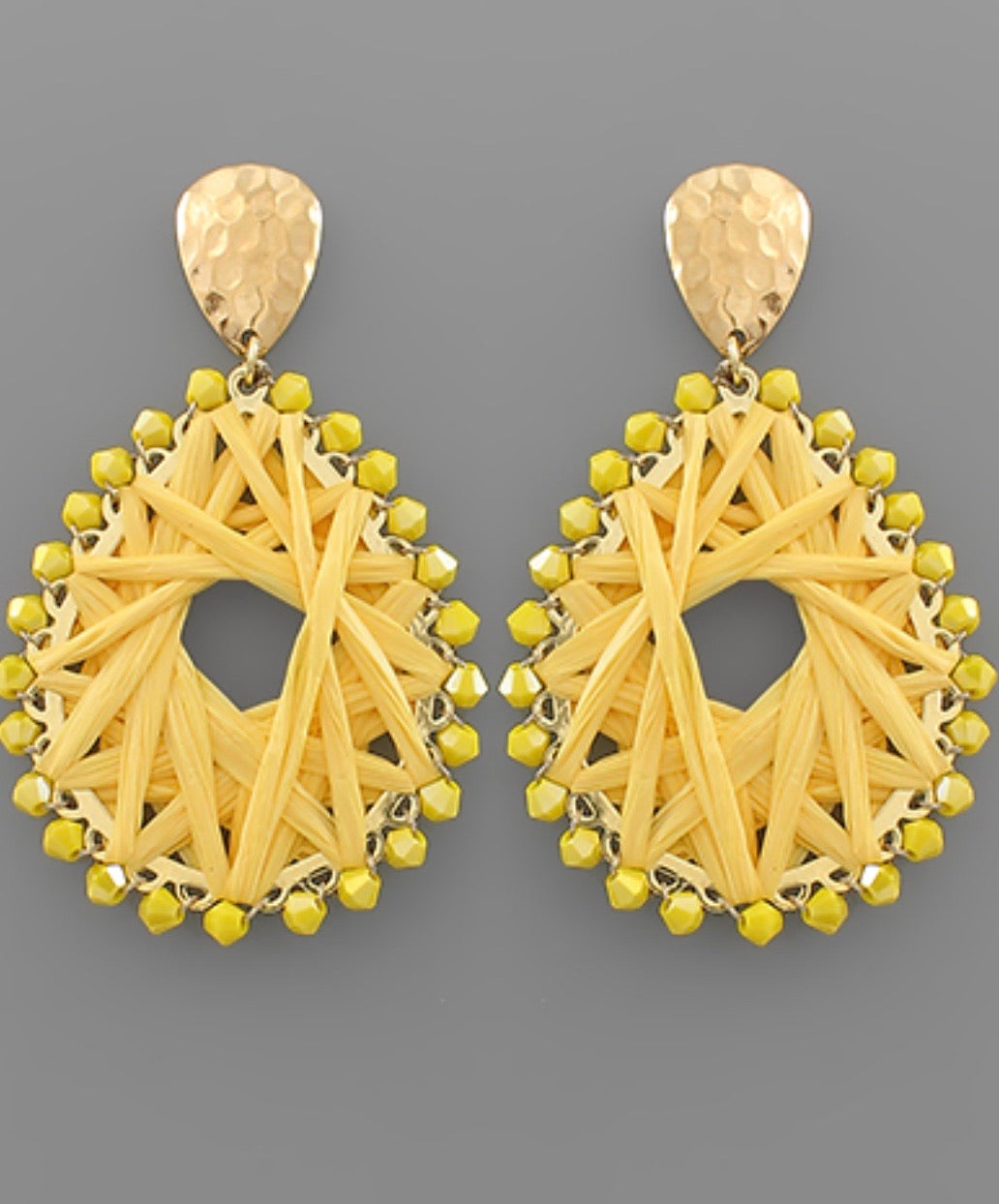 Raffia Teardrop Earrings
