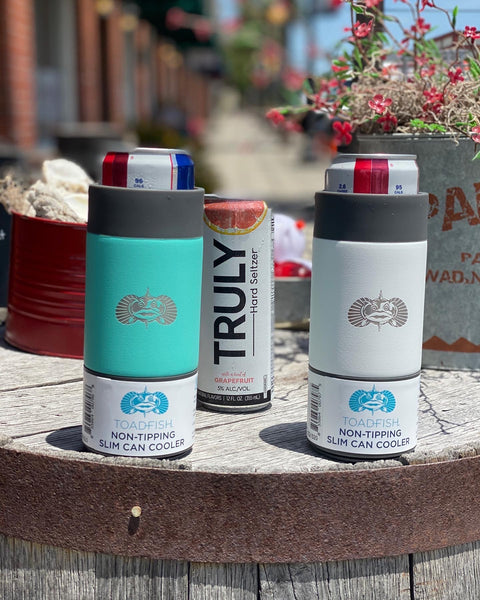 Toadfish Non-Tipping Slim Can Koozie