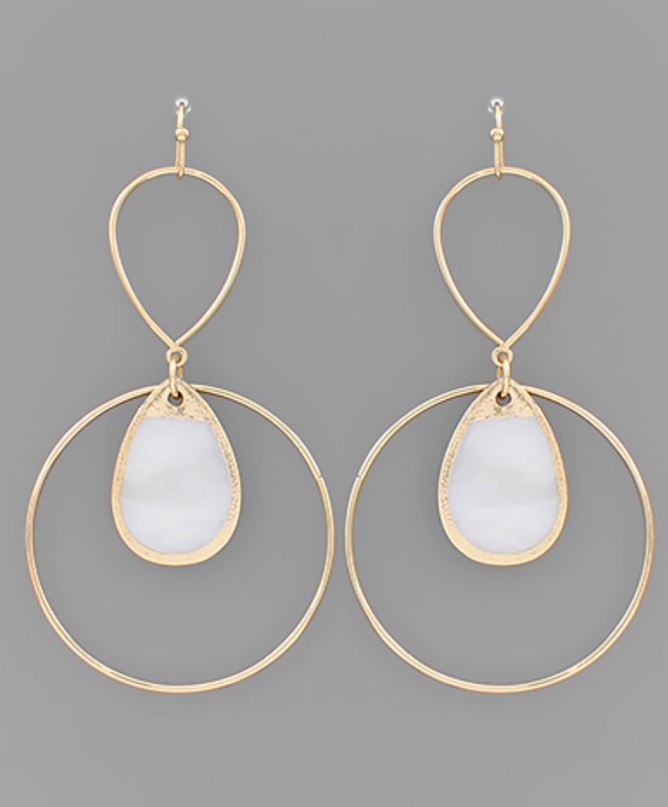 Teardrop Shell Earrings