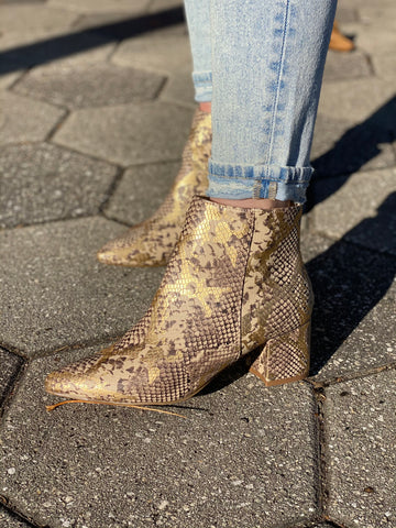 Gold On Repeat Booties