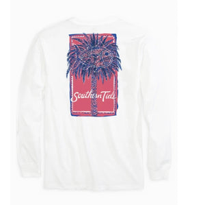 Southern Tide Festive Palm LS Tee