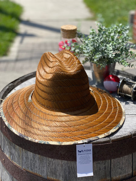 Aftco Game Fish Straw Hat Brown