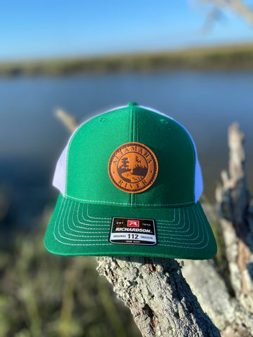 Altamaha River Company Emerald Leather Patch Snapback