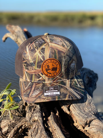 Altamaha River Company Blades Leather Patch Snapback