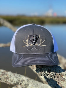 Gray/White Snapback Full Color Logo