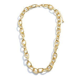 Short Gold Chain Link Necklace