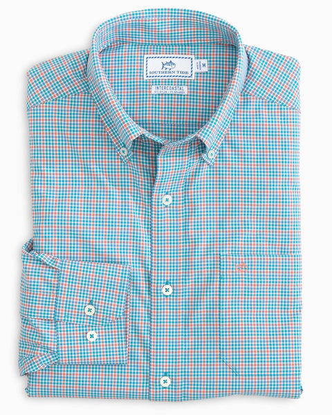 Southern Tide Brrr Mini Check Sport Shirt