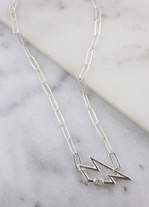 Pippen Lighting Bolt Necklace