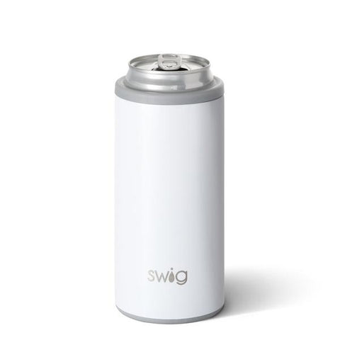 Swig 12oz Can Cooler Dimond White