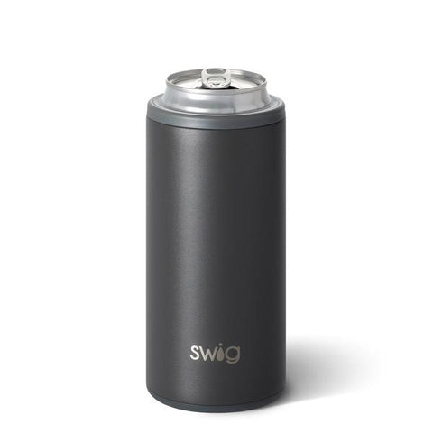Swig 12oz Slim Can Cooler Matte Grey