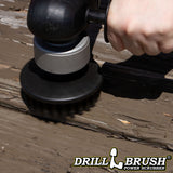 5in Black Brush - Ultra Stiff - Short Bristles - Stone & Concrete Cleaning | 5in-S-K-T-DB
