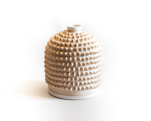 Cream Spiky Pot