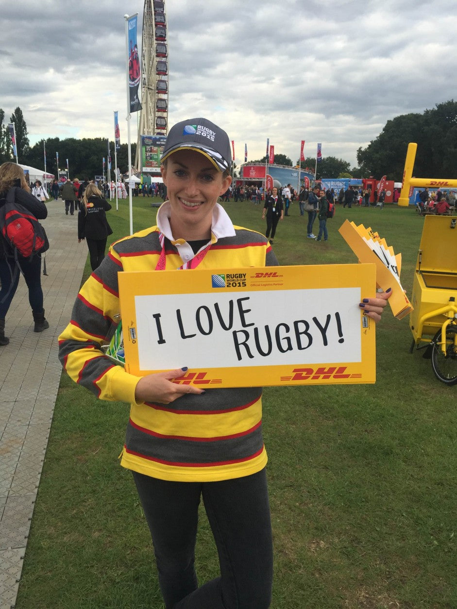 DHL Clap Banner at the Rugby World Cup
